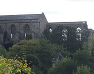 Ruined section of Malmesbury Abbey